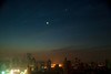 Moon and Venus Over Shanghai